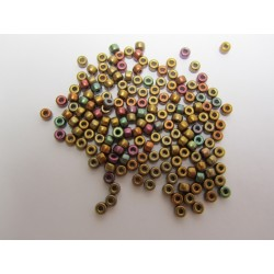 Matubo Seed  Beads   8/0  Purple Iris Gold  -  10 g