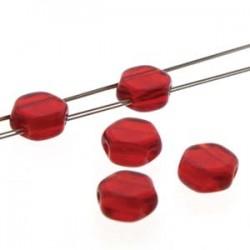 Honeycomb 6 mm   Transparent  Ruby   - 20 Pcs