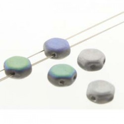 Honeycomb 6 mm  Glittery Matte Silver   - 20 Pcs
