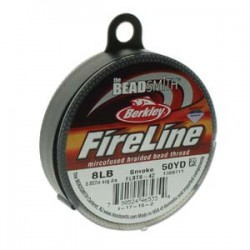 Fireline Thread 0.17 mm (8LB) Smoke Grey - 1 Spool of 50 Yard