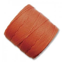 S-Lon Bead Cord 0.5 mm  Orange  - 1 Spool  70 m
