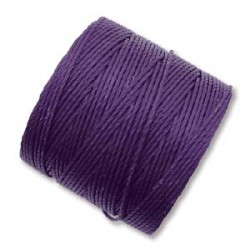S-Lon Bead Cord 0.5 mm Purple - 1 Bobina da 70 m