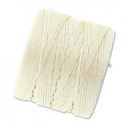 S-Lon Bead Cord 0.5 mm Vanilla - 1 Spool 70 m
