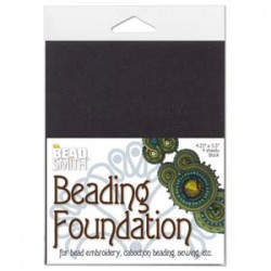 Beadsmith Beading Foundation  14 x 10 cm  Black   - 4 pcs