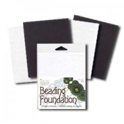 Beadsmith Beading Foundation  14 x 10 cm  2 Black  + 2 White  - Total  4 pcs
