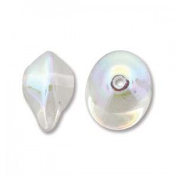 UFO Beads  7 x 11  mm  Crystal AB -  10 pcs