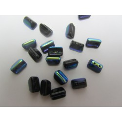 Roofy  Beads  5 x 8  mm Jet   AB  -  20 pz