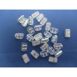 Roofy Beads 5 x 8 mm Crystal AB - 20 pz