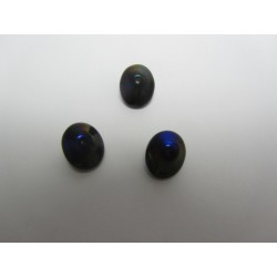 UFO Beads  7 x 11  mm  Jet Azuro   -  10 pcs