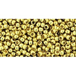 Rocailles Toho 11/0 Permanent Finish Galvanized Yellow Gold
