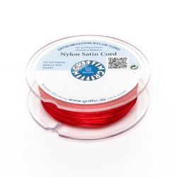 Cordoncino in Raso di Nylon Griffin Rosso 2 mm