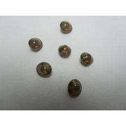 UFO Beads  7 x 11  mm  Crystal Lila Gold Luster   -  10 pcs