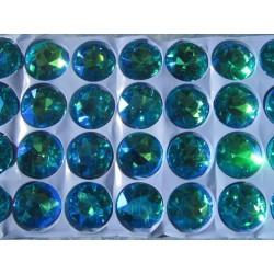 Glass  Cabochon  27 mm  Aquamarine AB  - 1 pc