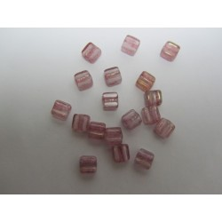 Groovy Tiles  6 mm   Crystal Terracotta Red   -  20 Pcs