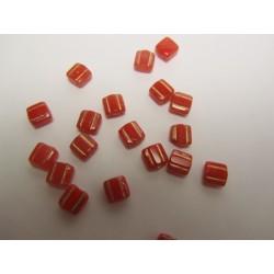 Similar Groovy Tiles  6 mm  Luster Red    -  20 Pcs