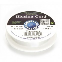 Filo Invisibile Illusion Cord Griffin 0,25 mm - Bobina 50 m