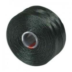 S-Lon Bead Cord AA  0.25 mm TEX 35  Dark Green   - 1 Spool  68 m