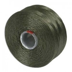 S-Lon Bead Cord AA  0.25 mm TEX 35  Olive  - 1 Spool  68 m