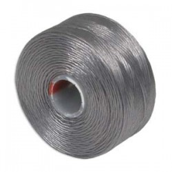 S-Lon Bead Cord AA  0.25 mm TEX 35 Grey  - 1 Spool  68 m