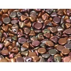 Perline Button Bead 4 mm Purple Iris Gold  -  20 Pz