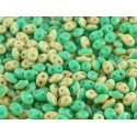 Superduo  Duet®  2,5x5 mm  Green Turquoise Ivory Opaque   - 10 g