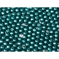 Round Beads  3 mm Pastel Emerald  - 50 pcs