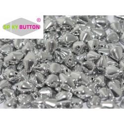 Spiky Button®  4,5x6,5 mm  Crystal Labrador Full  -  20 pcs