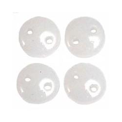CzechMates Lentil  6 mm Alabaster - 50 pcs