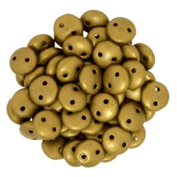 CzechMates Lentil  6 mm Matte Metallic Goldenrod - 50 pcs