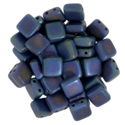 Perline Tile 6 mm Matte Iris Blue  -  40 Pz