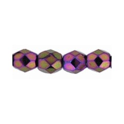 Mezzo Cristallo  3 mm  Iris Purple  - 50  Pz