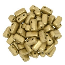 CzechMates Bricks 3x6 mm Matte  Metallic Flax - 50 pcs