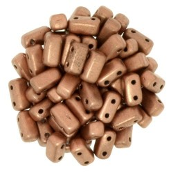 CzechMates Bricks 3x6 mm Matte Metallic Copper- 50 pcs