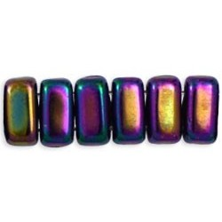 Perline Bricks 3x6 mm Iris Purple - 50 Pz