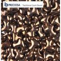 Tee Beads  2x8 mm  Dark Bronze  - 40 pz