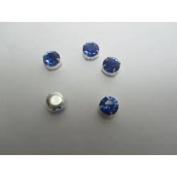 Chatons incastonati ss34  (7,2-7,4mm) Sapphire   -  5 pz