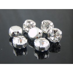 Chatons incastonati ss34  (7,2-7,4mm) Crystal  -  5 pz
