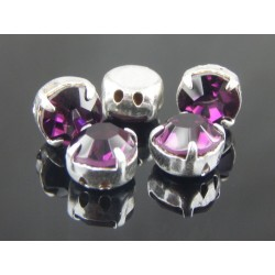 Chatons with setting ss34 (7,2-7,4mm) Amethyst - 5 pcs