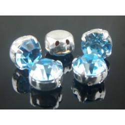 Chatons incastonati ss40  (8,4-8,8mm)  Aqua Bohemica -  5 pz