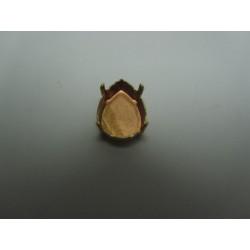 Castone chiuso per goccia 18x13  mm , Color Rame  -  1  pz