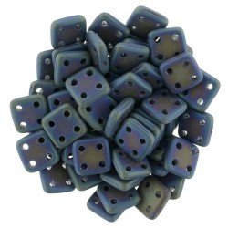CzechMates QuadraTile 6 mm Matte Iris Blue - 5 g