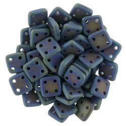 CzechMates QuadraTile  6 mm  Matte Iris Blue  - 5 g