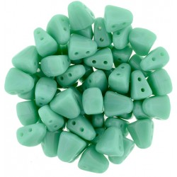 NIB-BIT  6 x 5 mm  Opaque Turquoise   - 5 g