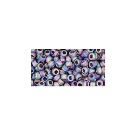 Rocailles Toho 8/0 Transparent Rainbow Frosted Amethyst - 10 g