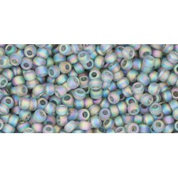 Toho Round 11/0 Tranpsarent Rainbow  Frosted  Gray  - 10 g