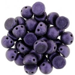 CzechMates Cabochon  2 Holes  7 mm  Metallic Suede Purple  -  10 pz