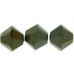 Swarovski Bicone 5301  3 mm  Jet Nut  2X  - 50  pcs