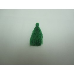 Cotton Thread Tassel Pendant  25-31 mm  Green  - 1 pc