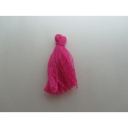 Cotton Thread Tassel Pendant  25-31 mm  Fuchsia   - 1 pc