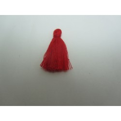 Cotton Thread Tassel Pendant  25-31 mm  Red    - 1 pc